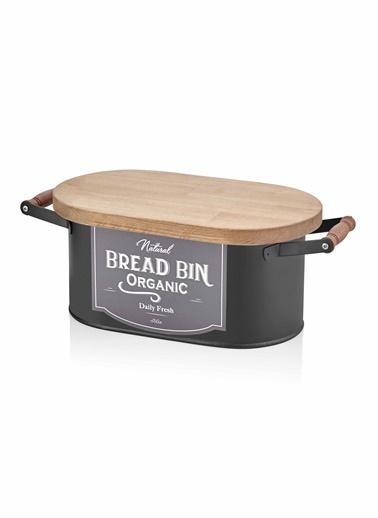 The Mia Ekmek Kutusu Büyük - Siyah Siyah
